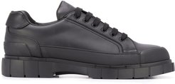 low lace-up sneakers - Black