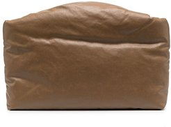 padded canvas clutch - Brown