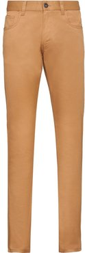 stretch drill five-pocket trousers - Brown