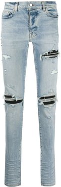 distressed skinny-fit jeans - Blue