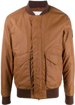 ruched bomber jacket - Brown
