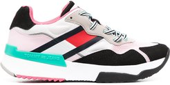 colour-block sneakers - PINK