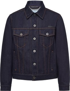 Selvedge denim blouson jacket - Blue