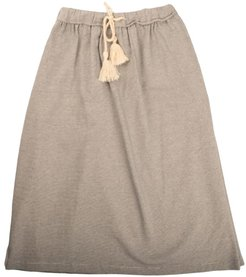 Long Skirt With Blue / Natural Stripes