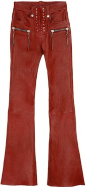 Vintage Leather Flared Trousers