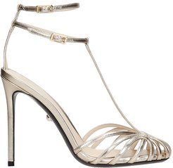 Stella 110 Sandals In Gold Leather