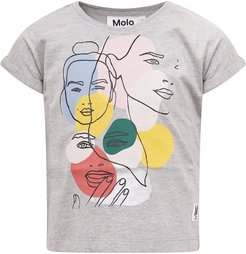 Grey T-shirt With Colorful For Girl