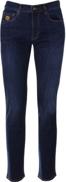 Teddy Embroidered Slim-fit Jeans