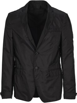 Nylon Single-breasted Blazer