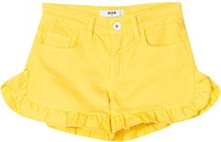 Kids Shorts With Ruches