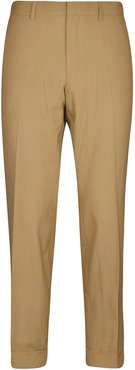 Concealed Zipped Straight Trousers