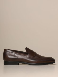 Loafers Tods Moccasin In Leather With Rubber Sole