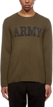 Army Embroidered Jumper