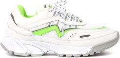 Demo Runner White Leather & Fabric Chunky Sneakers