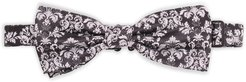 Black And White Jacquard Bow Tie