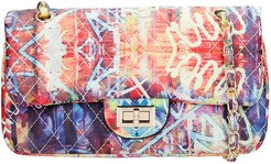 Ghetty M Shoulder Bag In Multicolor Leather