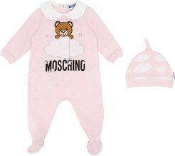 Pink Romper Set With Frontal Toy Press