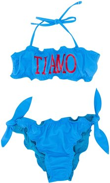 Turquioise Teen Swimsuit With Frontal Press