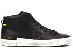 Black Leather High-top Sneakers Pm/ 78edt