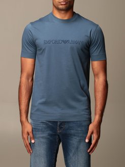 T-shirt Emporio Armani Cotton T-shirt With Flock Logo