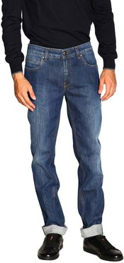 Jeans Slim Stretch Light Used Jeans With Bull Pockets