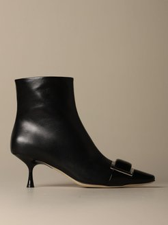 Flat Booties Sergio Rossi Sr1 Ankle Boot In Leather