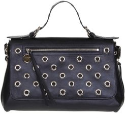 Hand Bag In Black Leather