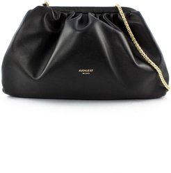 Puffy Bag In Black Leather