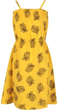 Yellow Girl Dress With Pineapple