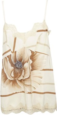 Lace Detailed Floral Tank Top