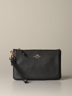 Mini Bag Coach Envelope Clutch In Textured Leather