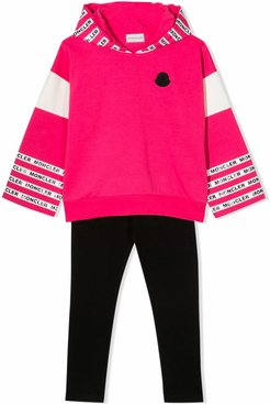Black And Hot Pink Cotton Tracksuit