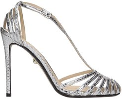 Tony 110 Sandals In Silver Leather
