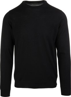 Man Black Shaved Wool Pullover