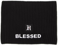 Black Blend Ribbed Wool Hat Hair Band