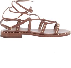 Low Sandals W/studs On Ankle