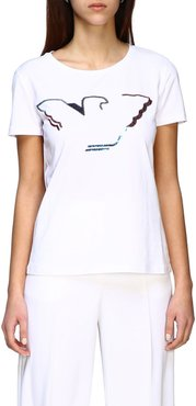 T-shirt Emporio Armani Short-sleeved T-shirt With Sequin Logo