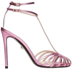 Stella 110 Sandals In Rose-pink Leather