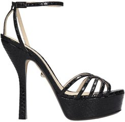 Caterina 090 Sandals In Black Leather