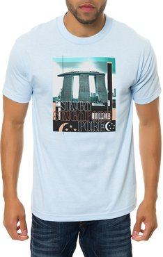 The Singapore Tee in Powder Blue