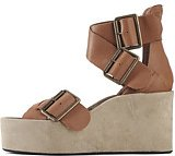 Jeffrey Campbell for Women: Toscany Tan Beige Suede Wedges