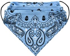 Nicole Miller Blue Bandana Mask In Blue | Cotton