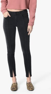 Joe's Jeans The Icon Ankle Mid-Rise Skinny Ankle Women's Jeans in Robynn/Black   Size 33   Cotton/Elastane/Viscose