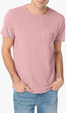 Joe's Jeans Chase Crew Men's T-Shirt in Desert Rose/Pink | Size Small | Cotton