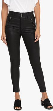 Joe's Jeans The High Rise High Rise Skinny Ankle Women's Jeans in Black | Size 31 | Cotton/Polyester/Elastane