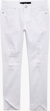 Joe's Jeans Mid Rise Tulip Fray (Little Girls) Women's Jeans in Bright White   Size 2T   Cotton/Spandex/Polyester