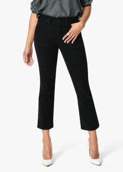 Joe's Jeans The Callie High Rise Cropped Bootcut Women's Jeans in Black | Size 33 | Cotton/Spandex