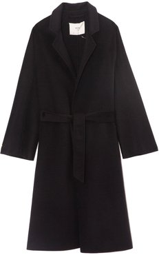 Chelsea Double Faced Cashmere Coat in Navy