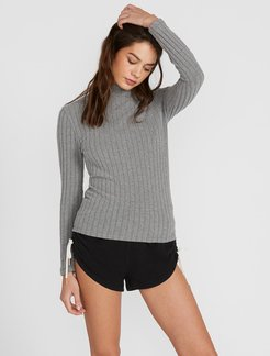 Volcom Lived In Lounge Long Sleeve - Charcoal Heather - Charcoal Heather - L