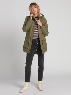 Volcom Walk On By 5K Parka - Army Green Combo - Army Green Combo - M
